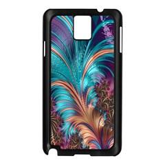 Feather Fractal Artistic Design Samsung Galaxy Note 3 N9005 Case (black)