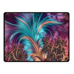 Feather Fractal Artistic Design Double Sided Fleece Blanket (Small)