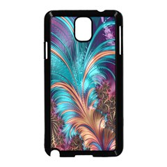 Feather Fractal Artistic Design Samsung Galaxy Note 3 Neo Hardshell Case (black)