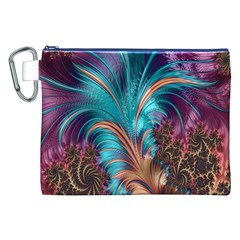 Feather Fractal Artistic Design Canvas Cosmetic Bag (xxl)
