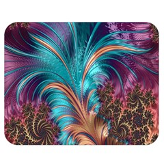 Feather Fractal Artistic Design Double Sided Flano Blanket (medium)