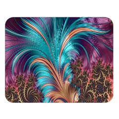 Feather Fractal Artistic Design Double Sided Flano Blanket (Large)
