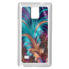 Feather Fractal Artistic Design Samsung Galaxy Note 4 Case (White)