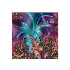 Feather Fractal Artistic Design Satin Bandana Scarf