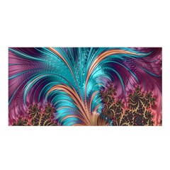 Feather Fractal Artistic Design Satin Shawl
