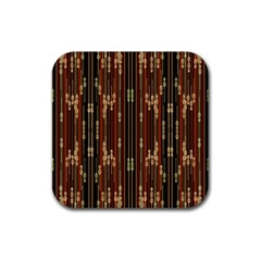 Floral Strings Pattern Rubber Coaster (Square)