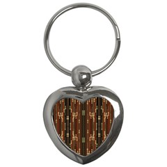 Floral Strings Pattern Key Chains (Heart)