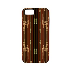 Floral Strings Pattern Apple Iphone 5 Classic Hardshell Case (pc+silicone)