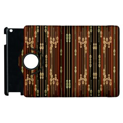 Floral Strings Pattern Apple Ipad 2 Flip 360 Case