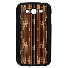 Floral Strings Pattern Samsung Galaxy Grand DUOS I9082 Case (Black)