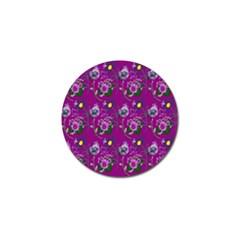 Flower Pattern Golf Ball Marker