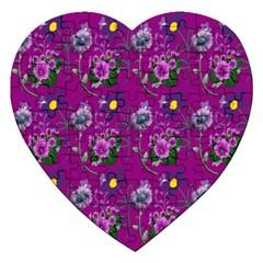 Flower Pattern Jigsaw Puzzle (Heart)