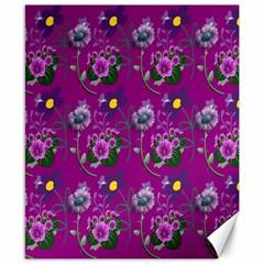 Flower Pattern Canvas 8  x 10