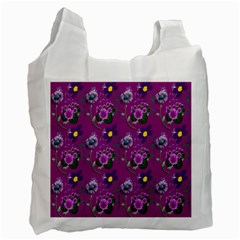 Flower Pattern Recycle Bag (Two Side)