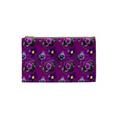 Flower Pattern Cosmetic Bag (Small)