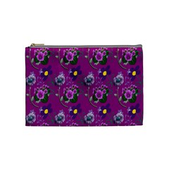 Flower Pattern Cosmetic Bag (Medium)