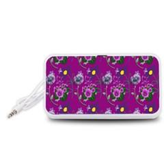 Flower Pattern Portable Speaker (white)