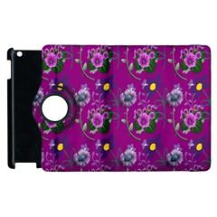 Flower Pattern Apple iPad 2 Flip 360 Case