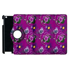 Flower Pattern Apple Ipad 3/4 Flip 360 Case