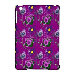 Flower Pattern Apple iPad Mini Hardshell Case (Compatible with Smart Cover)