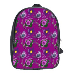 Flower Pattern School Bags (XL)