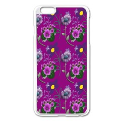 Flower Pattern Apple Iphone 6 Plus/6s Plus Enamel White Case