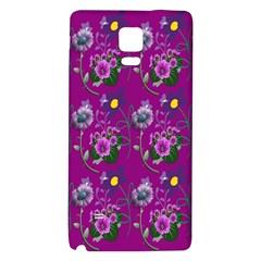 Flower Pattern Galaxy Note 4 Back Case