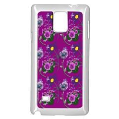 Flower Pattern Samsung Galaxy Note 4 Case (white)
