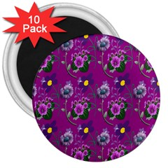 Flower Pattern 3  Magnets (10 pack)