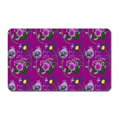 Flower Pattern Magnet (Rectangular)