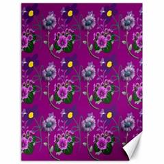 Flower Pattern Canvas 18  x 24