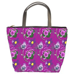 Flower Pattern Bucket Bags