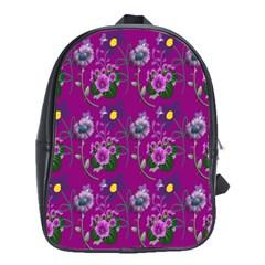 Flower Pattern School Bags(Large)