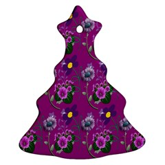 Flower Pattern Christmas Tree Ornament (two Sides)
