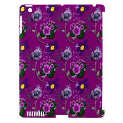 Flower Pattern Apple iPad 3/4 Hardshell Case (Compatible with Smart Cover)