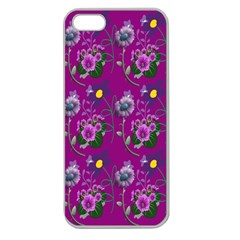 Flower Pattern Apple Seamless Iphone 5 Case (clear)