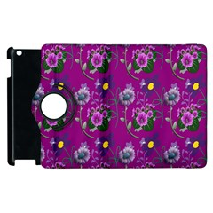 Flower Pattern Apple iPad 3/4 Flip 360 Case