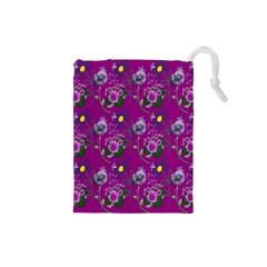 Flower Pattern Drawstring Pouches (Small)