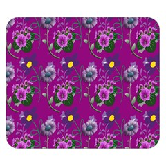 Flower Pattern Double Sided Flano Blanket (small)