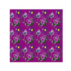 Flower Pattern Small Satin Scarf (Square)