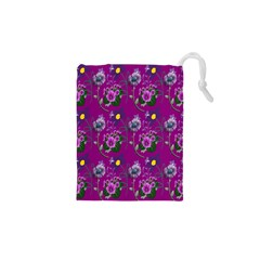 Flower Pattern Drawstring Pouches (XS)