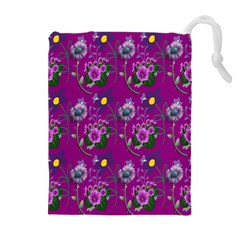 Flower Pattern Drawstring Pouches (Extra Large)