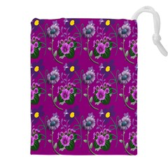 Flower Pattern Drawstring Pouches (XXL)