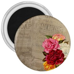 Flower Floral Bouquet Background 3  Magnets