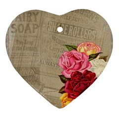 Flower Floral Bouquet Background Ornament (Heart)