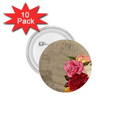 Flower Floral Bouquet Background 1 75  Buttons (10 Pack)