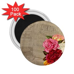 Flower Floral Bouquet Background 2 25  Magnets (100 Pack)