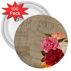 Flower Floral Bouquet Background 3  Buttons (100 pack)