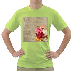 Flower Floral Bouquet Background Green T-Shirt