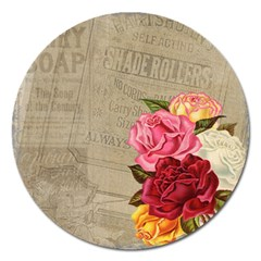 Flower Floral Bouquet Background Magnet 5  (round)